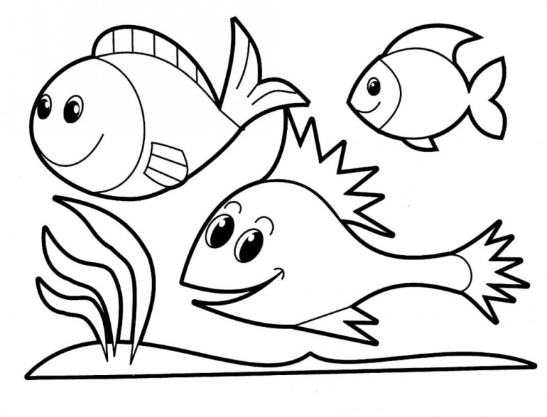 fish coloring pages for kids - photo#11